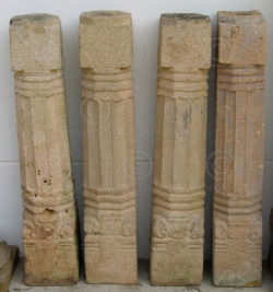 Indian columns i2 Four granite columns, South India, 17-18th cent
