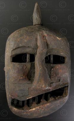 Masque taoiste Yao LT3. Nord du Laos ou Chine méridionnale.