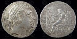 Monnaie indo-grecque C295. Drachme d'argent d'Euthydemus I. Bactriane.