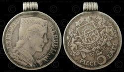 Monnaie lettone C53. République Baltique indépendante de Lettonie.