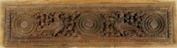 Panneau Indien sculpté 09BS8. Bois de satin. Inde du sud.