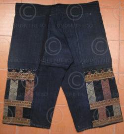 Pantalon Yao Mien YA74C. Soie sur indigo. Vietnam.