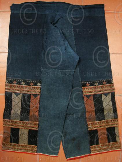 Pantalon Yao Mien YA74E. Soie sur indigo. Vietnam.