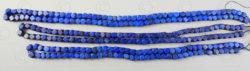 Perles lapis NBD4A. Lapis lazuli afghan, taillé en Inde.