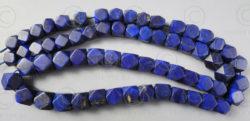 Perles lapis NBD4B. Lapis lazuli afghan, taillé en Inde.