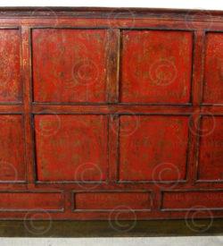 Placard Tibétain BJ36G. Buffet paint. Tibet.