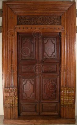 Porte Chettinad 08MT8. Chettinad, Sud de l'Inde.