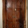 Porte Chettinad 08MT9. Bois de teck. Chettinad, Sud de l'Inde.