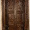 Porte Indienne H24-02. Porte en alcôve avec linteau sculpté. Inde du sud