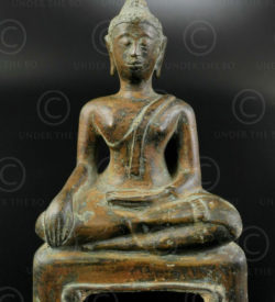 Statuette Bouddha thai T414. Style de Kampeng-Phet. Siam (Thaïlande).