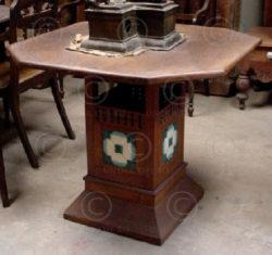 Side table ID2 Teakwood and ceramic. Indonesia. 1930s.