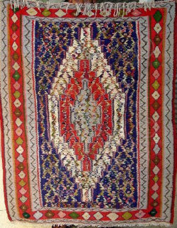 Iran kilim Z115 Cotton and wool kilim, nomadic Senneh tribe of Kurdistan, Iran