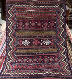 Baluch sumak Z139 Wool and cotton sumak (very thick and thightly woven), nomadic