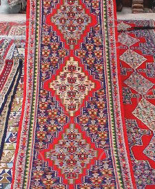 Iran kilim Z140a Cotton and wool kilim, nomadic Senneh tribe of Kurdistan, Iran
