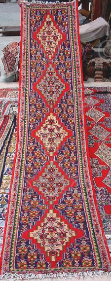 Iran kilim Z140a Cotton and wool kilim, nomadic Senneh tribe of Kurdistan, Iran