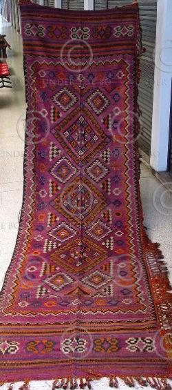 Afghan kilim Z48 Wool, Ghazni, Afghanistan,