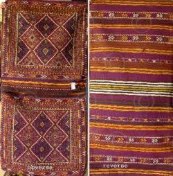 Afghan bag Z99 Wool donkey bag, Tatar nomadic tribe, Afghanistan