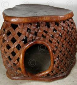 Tribal table FVT1.Carved at Under the Bo workshop..