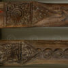 Thai beams T4. Two teak wood beams from a temple. Lanna, Northern Thailand. 19th
