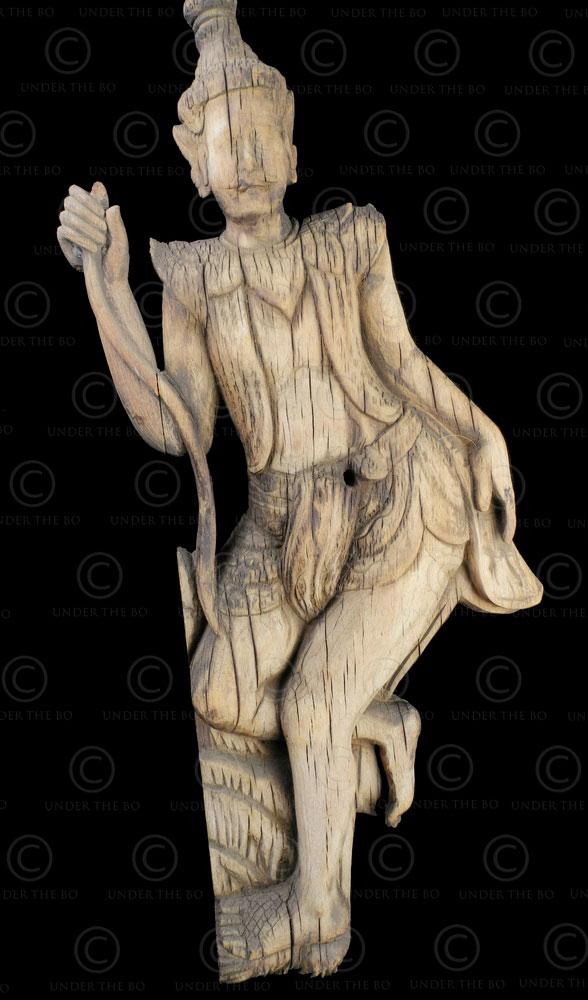 Burmese architectural statue BU543. Kentung, Eastern Burma.