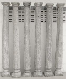 Six granite columns 08LN20. Western Tamil Nadu state, Southern India