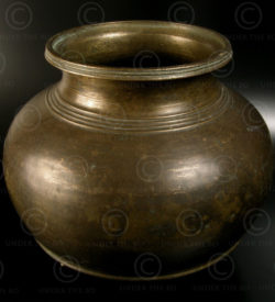 Bronze temple pot IN657. South India.