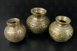 Ceremonial decorated lotas IN647. India.