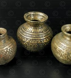 Ceremonial decorated lotas IN647. India.