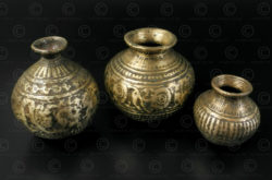 Ceremonial decorated lotas IN648. India.