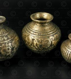 Ceremonial decorated lotas IN648. India.