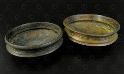 Petits plats en bronze IN651CD. État du Kérala, Inde du sud.