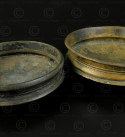 Small bronze dishes IN651CD.Kerala state, Southern India.