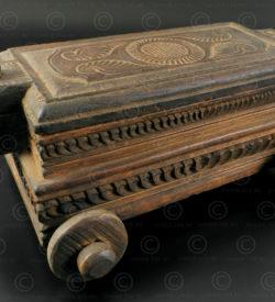 Wooden toycar box IN502B. Kerala region, Southern India.