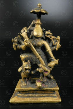 Bronze Durga 16N20. Maharashtra state, South India.