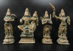 Bronze Ram Darbar set 16N8. Karnataka or Tamil Nadu state, Southern India.