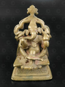 Bronze seated Ganesh 16N5. Maharashtra state, South India.