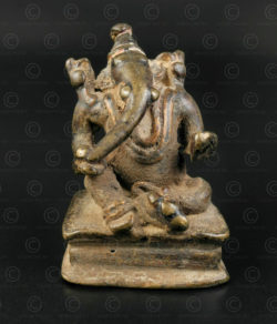 Bronze seated Ganesh 16N6. Rajasthan state, Northern India.