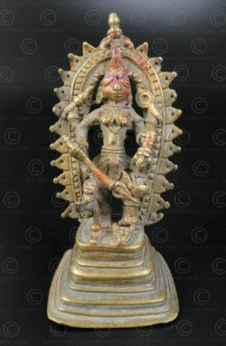 Durga bronze tribal 16N44. état du Madhya Pradesh, Inde centrale.