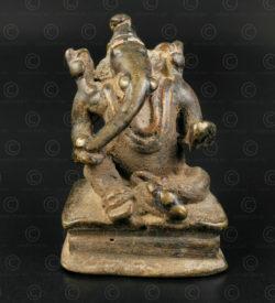 Ganesh assis bronze 16N6. Etat du Rajasthan, Inde du nord.