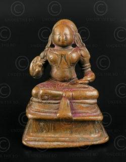 Hindu saint bronze 16P31. Andhra Pradesh state, Southern India.