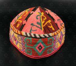 Afghan skull cap PAK48A. Afghanistan.