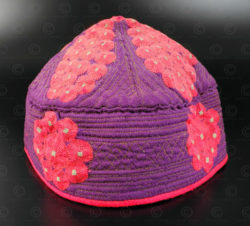 Afghan skull cap PAK48E. Afghanistan.