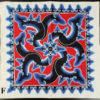 Cirebon batik napkin ID8. city of Cirebon on the north-west coast of Java, Indonesia.