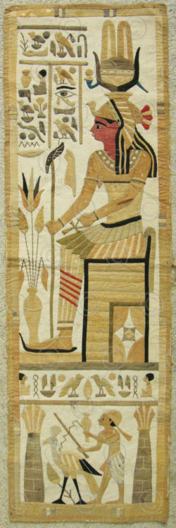 Egyptian revival tapestry 12UZ09A. Purchased in the Levant in the 1920s.