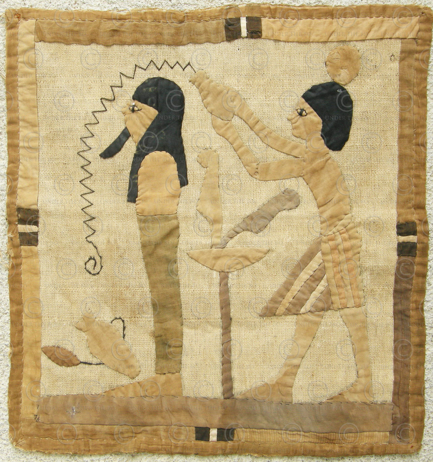 Egyptian revival tapestry 12UZ09C. Purchased in the Levant in the 1920s.