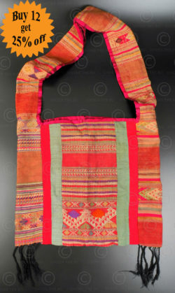 Silk weaving monk bag LA6C. Thailand.