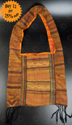 Silk weaving monk bag LA6E. Thailand.