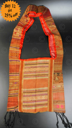 Silk weaving monk bag LA6H. Thailand.