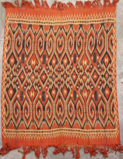 Toraja ikat blanket ID28E. Toraja culture, Central Sulawesi island, Indonesia.