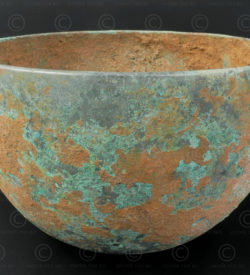 Early Siamese bronze bowl T421. North Eastern Thailand.